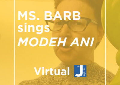 Ms. Barb Sings Modeh Ani